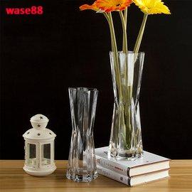 家居擺設六角玻璃花瓶透明六星花器鮮花假花插花簡約 花藝