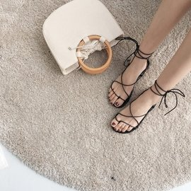 交叉綁帶涼鞋女鞋子學生露趾平底鞋百搭平跟羅馬涼鞋