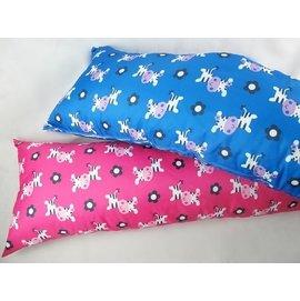 ~阿LIN~101AAA 大型枕 抱枕 靠枕 柔軟 長枕 牛圖樣 兩色 紅藍兩款 軟枕