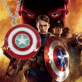 #x1f451 實拍  價 #x1f451 電影復仇者聯盟美國隊長盾牌鋅合金不腿色 美國隊