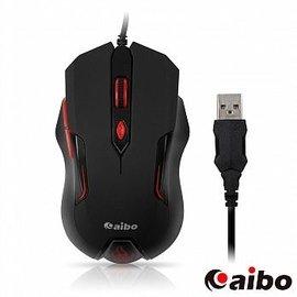 ~迪特軍3C~aibo S627 烈焰魔鼠 六鍵式高解析有線光學滑鼠黑色 遊戲鼠