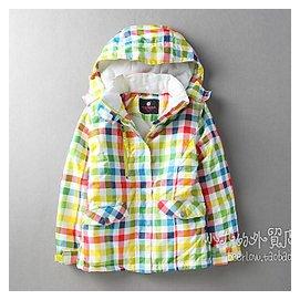 外貿原單 兒童滑雪服 男女 鼕季戶外滑雪外套夾棉滑雪衣棉衣