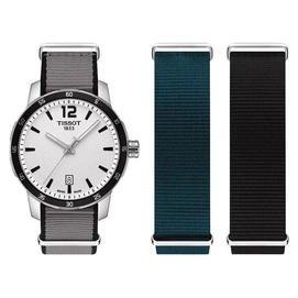 TISSOT QUICKSTER NATO 活力 帆布腕錶~銀 40mm T0954101