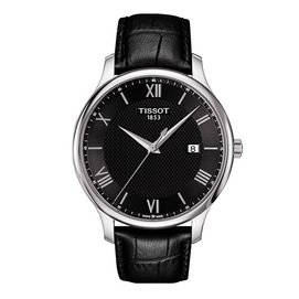 TISSOT 天梭 間約大三針羅馬紳士男用腕錶 42mm T0636101605800