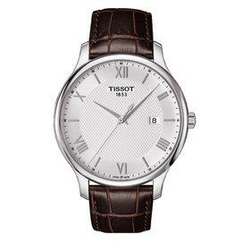 TISSOT 天梭 Tradition 羅馬 紳士男用腕錶 42mm T063610160