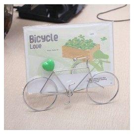 包郵7寸鐵藝金屬自行車相框 獨特 相架 卡通玻璃擺臺 橫