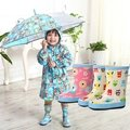 韓國兒童雨靴可愛卡通圖案雨靴雨鞋/橡膠防滑(299元)