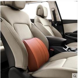 汽車真皮腰靠記憶棉護腰靠背墊四季車用座椅腰墊透氣靠背墊腰托