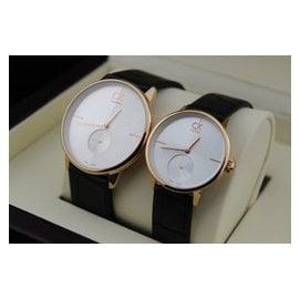 瑞士ck手表k2y231k6石英表男士女士 真皮表帶情侶對表