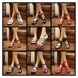 1765年 正品益和軒繡花鞋 民族風 老北京布鞋女鞋單鞋平底 低幫鞋