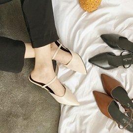 尖頭包趾平底鞋 有兩種穿法哦~ #x1f60a