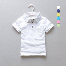 男孩小孩中大童 2016兒童男童polo衫純棉翻領短袖T恤純色白色