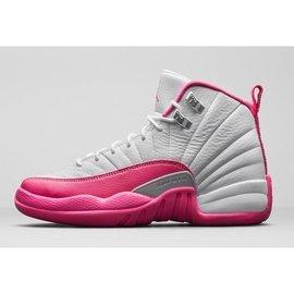 【LongLeg】NIKE AIR JORDAN 12 XII Dynamic Pink GS 喬丹 情人節 白粉 粉紅