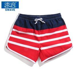 速浪 沙灘褲女夏短 2016海邊度假慢跑 速干短褲平角褲顯瘦熱褲