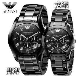 #x1f497 陸伊 #x1f497  貨黑色陶瓷AR男錶女錶三眼多 計時情侶對錶男士腕錶
