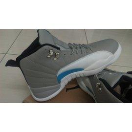 "Nike Air Jordan 12 Retro XII  ""GreyBlue""狼灰  全新現貨27.5一雙"