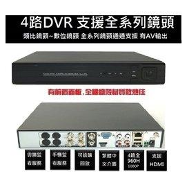 TNH104 4路4聲監視器主機 全機金屬材質 支援4TB硬碟  高畫質DVR 視訊鏡頭 防盜器全系鏡頭通吃
