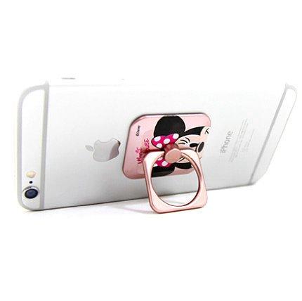 【PATI手機殼】米奇米妮iphone6s指環扣支架金屬卡通plus三星蘋果通用防摔 OPPO HTC03