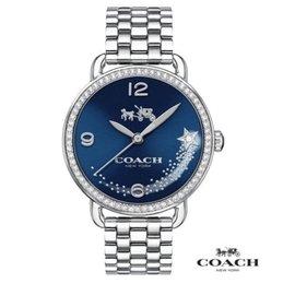 COACH Delancey 藍色星戀 閃閃晶鑽腕錶~藍 28mm CO14502693