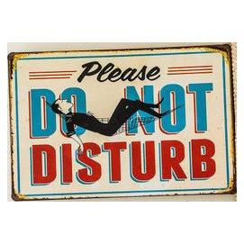 ~鐵板畫倉庫~美式休息中請勿打擾 特殊標語廣告招牌復古風壁畫海報咖啡廳餐廳酒吧裝飾鐵板畫鐵