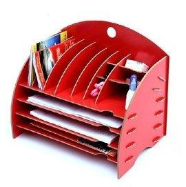 麗瓏辦公文具 多 桌面收納架 DIY木質文件架 雜誌架B1001