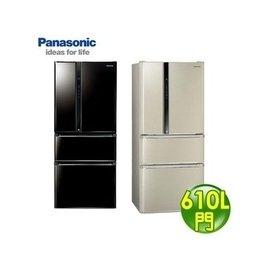 Panasonic 國際牌 610L 雙效科技變頻四門冰箱 NR~D618NHV ^(光釉