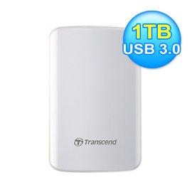 創見 SJ25D3W 1TB 2.5吋 外接硬碟 白