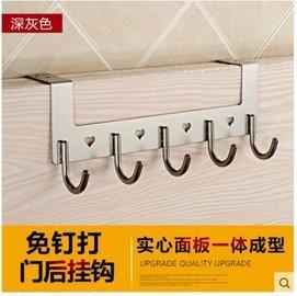 吉百居掛衣鉤浴室衛生間門後客廳衣服衣帽太空鋁 掛鉤排鉤