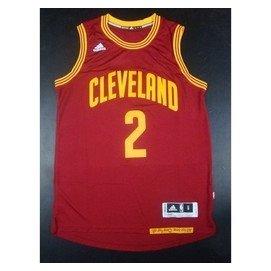 Cleveland Cavaliers騎士隊#2號Kyrie Irving厄文 酒紅 熱壓