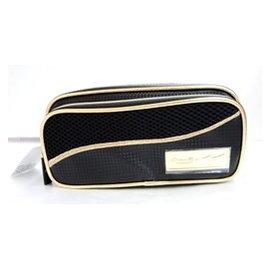 ◎日本限定◎ MIZUNO PRO 金色LOGO 双层笔袋 化装包 万用收纳袋《1GJYA00109 》