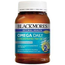 200顆大包裝,兩罐  BLACKMORES Omega Daily 2倍DHA加強型深