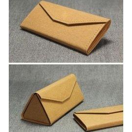 正品個性折疊眼鏡盒牛皮紙高檔復古可折疊 便攜式收納盒墨鏡盒潮