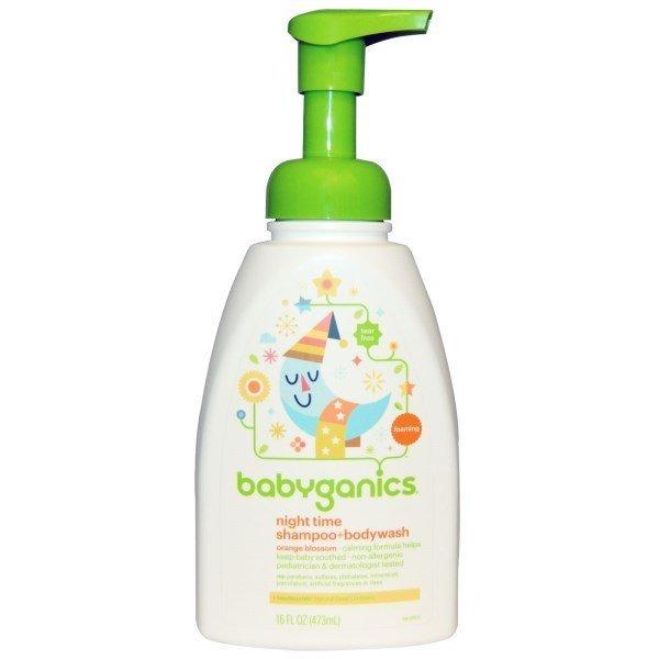 BabyGanics 貝比潔妮寶寶橙花香夜用二合一洗髮+沐浴露  473ml  BGN-0137901