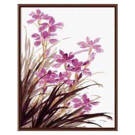 外貿數字油畫 畫畫公子油畫定做數字油畫貼牌G220蘭 40~50CM