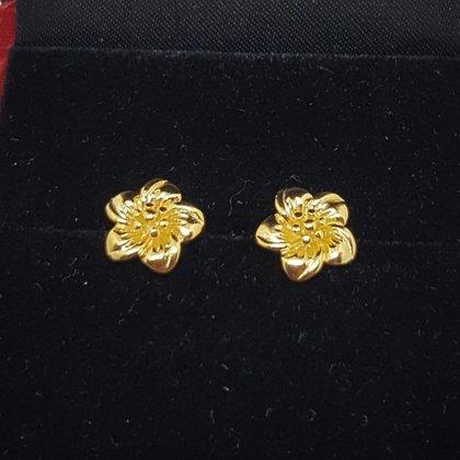 高仿真黃金鍍金耳環