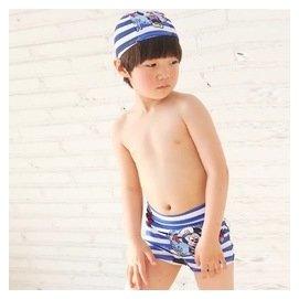 協貿國際 男童卡通米奇平角泳褲溫溫泉兒童游泳褲帶帽小孩泳1入