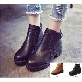 英倫風粗跟馬丁靴 馬丁靴 短靴 粗跟靴 短跟靴 女靴 雪靴 靴子 高跟靴