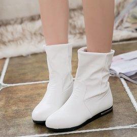 潮流指標正韓短靴女春秋平底女靴 單靴女鞋單鞋白色短筒學生馬丁靴