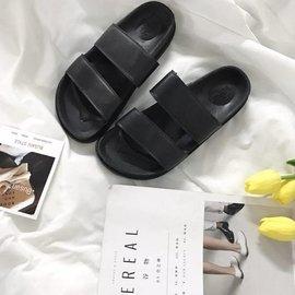 #x1f498 首頁 送 #x1f498  一字拖室內防滑拖鞋平底涼鞋女士復古外穿雙帶羅馬