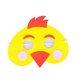 (满260元出货)【批发价现货】eva卡通动物面具儿童头饰小鸡面具成人孩子舞会派对游戏表演道具(45元)