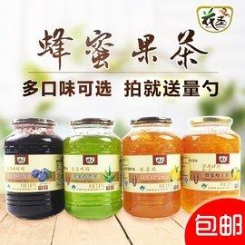 花聖蜂蜜柚子茶1000g韓國風味蜜煉水果茶果汁1kg果醬沖飲品