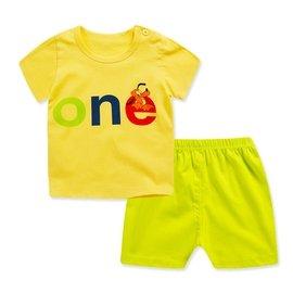 寶寶短袖套裝純棉嬰兒衣服兒童夏裝男童短褲女童T恤0-1-3歲 141元