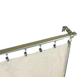 愛寶  Rod Desyne  向下C型滑粒式 手拉桿 窗簾軌道 窗簾桿 電鍍沙電  1