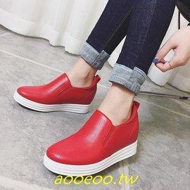 春 顯瘦小白鞋女內增高一腳蹬女鞋 百搭 鞋懶人鞋樂福鞋 299元