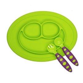 Pi Apple 媽咪下標專區-EZPZ拔不掉的寶寶餐盤+餐具(mini款)