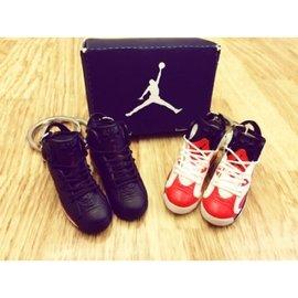 Jordan 6代 大魔王 胭脂紅 鞋模 小鞋 鞋子 鑰匙圈 生日