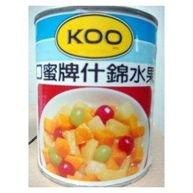 [吉田佳]B213031什錦水果罐頭(825g/罐)---另有水蜜桃,鳳梨片,櫻桃派餡,小洋梨,楊梅粒