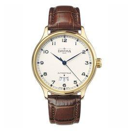 DAVOSA Classic 經典系列 Day Date 機械腕錶-象牙白x金框/40mm