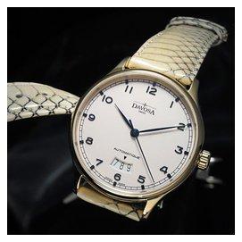 DAVOSA Classic 經典之作系列 Day Date 時尚腕錶-白x金框/40mm