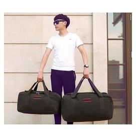 Ti男女手提包男女旅行袋行李袋單肩包斜挎包大容量帆布包旅行包
